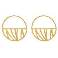 Bijoux Les Georgettes : Boucles d'oreilles Perroquet finition or 703188519