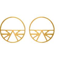 Bijoux Les Georgettes : Boucles d'oreilles Ibiza finition or 703188719