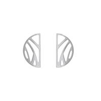 Bijoux Les Georgettes : Boucles d'oreilles Perroquet finition argent 703188916