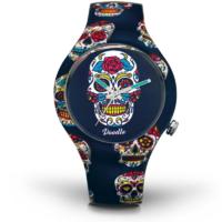 Montre Doodle Watch Blue Skull Calaveras