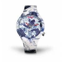 Montre Doodle Watch Oriental Carpe Koi bleu