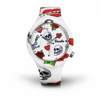 Montre Doodle Watch Heart and Skull