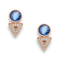 Boucles d'oreilles en nacre bleue FOSSIL JF03009791