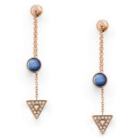 Boucles d'oreilles pendantes en nacre bleue FOSSIL JF03010791