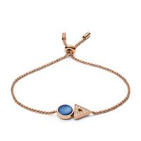 Bracelet géométrique en nacre bleue FOSSIL JF03011791