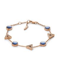 Bracelet géométrique en nacre bleue FOSSIL JF03012791
