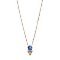 Collier géométrique en nacre bleue FOSSIL JF03013791