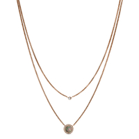 Collier 2 rangs nacre et cristal Swarovski FOSSIL JF02953791
