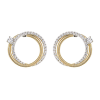 Boucles d'oreilles Jourdan Adagio collection Torsades AOG631