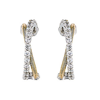 Boucles d'oreilles Jourdan Adagio collection Torsades AOG637