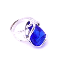 Bague cristal Swarovski - Andrea MARAZZINI - Collection Florence bleu majestic