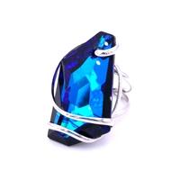 Bague cristal Swarovski - Andrea MARAZZINI - Collection DE ART bermuda blue