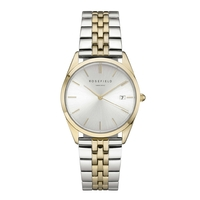 Montre Rosefield The Ace Gris Sunray-Duo Argent et Or