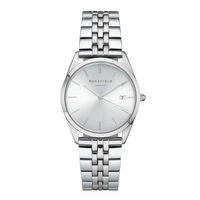 Montre Rosefield The Ace Gris Sunray-Argent