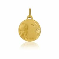 Médaille laïque chérubin or jaune - Augis 57727