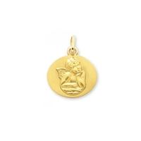 Médaille ange en or jaune 9 carats 20574