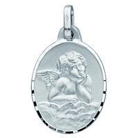 Médaille ange en or blanc 18 carats 659400