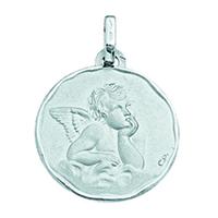 Médaille ange en or blanc 18 carats 571000