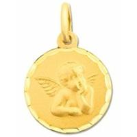 Médaille ange en or jaune 9 carats 660116