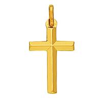 Pendentif croix en or jaune 18 carats 582800