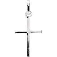 Pendentif croix en or blanc 18 carats P35G