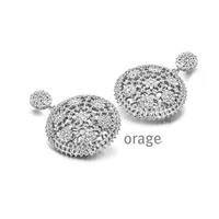 Boucles d'oreilles argent 925/000 rhodié et oxydes de zirconium Orage AH213