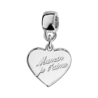 Charms coulissant maman je t'aime argent Thabora