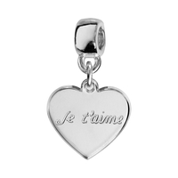 Charms coulissant je t'aime argent Thabora
