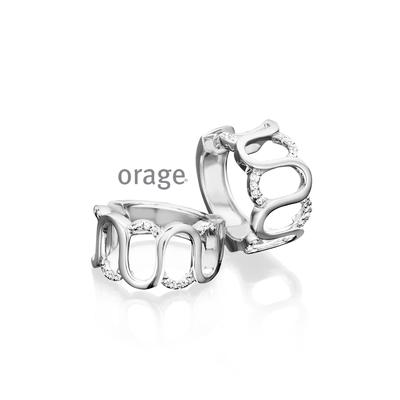 Boucles d'oreilles argent Orage AH130