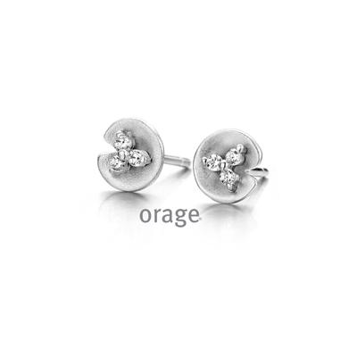 Boucles d'oreilles argent Orage AH090