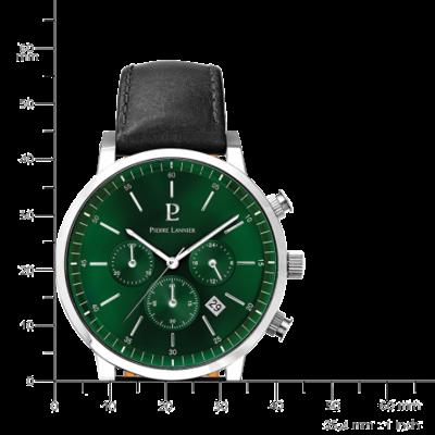 montre chronomètre homme pierre lannier 206G173 dimensions-lombartbijoux.com