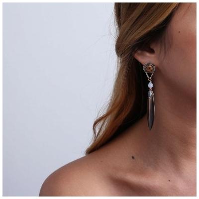 Boucles d'oreilles portées Nature Bijoux 12-76262 - lombartbijoux.com