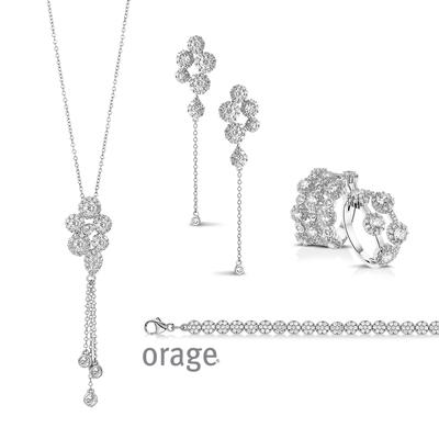 Parure collier argent femme ORAGE AK035 - lombartbijoux.com