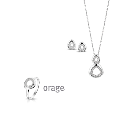 Parure Collier argent femme Orage AK078 - lombartbijoux.com
