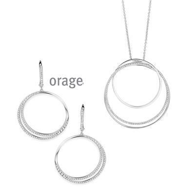 Parure collier argent femme ORAGE AK027 AK028 - lombartbijoux.com