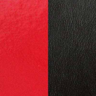 Cuir réversible pour colliers ronds Les Georgettes AO Rouge vernis/Noir