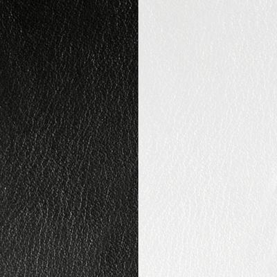 Cuir réversible pour colliers ronds Les Georgettes M4 Noir/Blanc