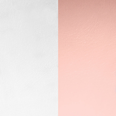 Cuir réversible pour colliers ronds Les Georgettes MP Gris clair/Rose clair