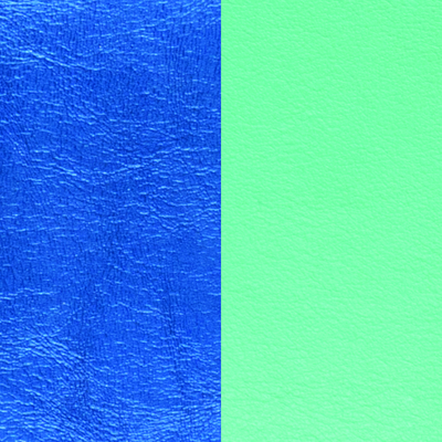 Cuir réversible pour colliers ronds Les Georgettes C6 Bleu sirène/Vert d'eau