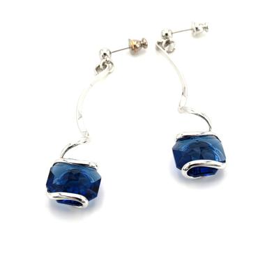 Boucles d'oreilles cristal Swarovski - Andrea MARAZZINI - E2 BLEU SAPHIR RH