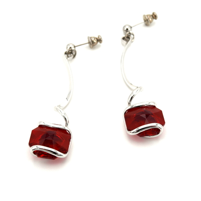 Boucles d'oreilles cristal Swarovski - Andrea MARAZZINI - E2 ROUGE RH