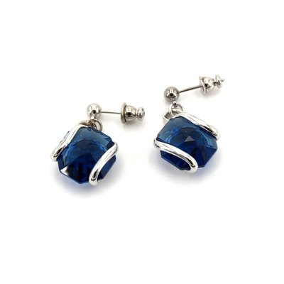 Boucles d'oreilles cristal Swarovski - Andrea MARAZZINI - E1 BLEU SAPHIR RH