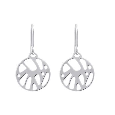 Bijoux Les Georgettes : Boucles d'oreilles Perroquet finition argent 703189416