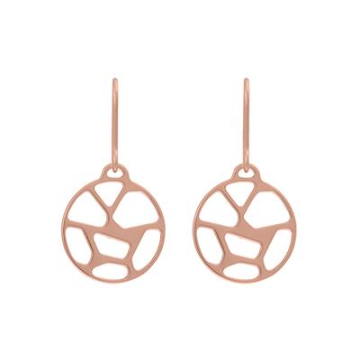 Bijoux Les Georgettes : Boucles d'oreilles Girafe finition or rose 703189241