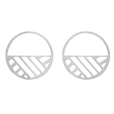 Bijoux Les Georgettes : Boucles d'oreilles Ruban finition argent 703188616
