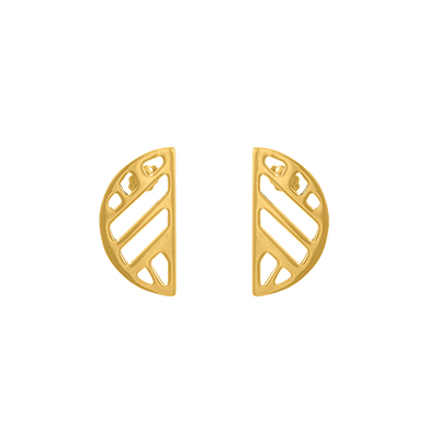 Bijoux Les Georgettes : Boucles d'oreilles Ruban finition or 703189019