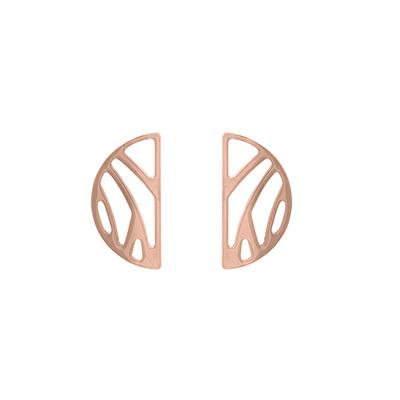 Bijoux Les Georgettes : Boucles d'oreilles Perroquet finition or rose 703188941
