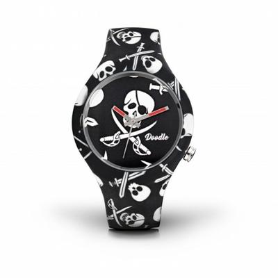 Montre Doodle Watch Pirates Skull noir