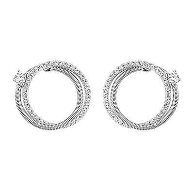 Boucles d'oreilles Jourdan Adagio collection Torsades AOG630