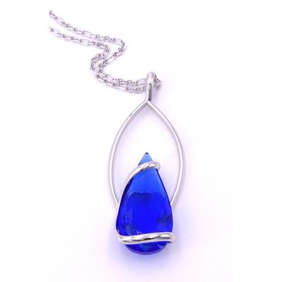 Collier cristal Swarovski - Andrea MARAZZINI - Collection Florence bleu majestic